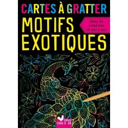 Cartes à gratter, motifs exotiques