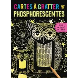 Cartes à gratter phosphorescentes - Avec un stylet en bois