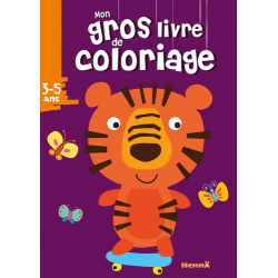 Mon gros livre de coloriage tigre - Grand Format