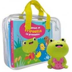 La baignade de Fripouille la grenouille - Avec 1 figurine en plastique - Album