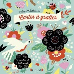 Cartes à gratter fleurs - Avec 6 cartes et 1 bâtonnet