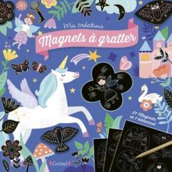 Magnets à gratter Licornes et féérie