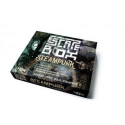 Escape box steampunk - Avec 3 livrets, 131 cartes, 1 bande-son de 60 minutes, 1 poster, 6 badges