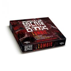 Escape box zombie - Contient : 3 livrets, 131 cartes, 1 bande-son d'une heure, 1 poster, 6 badges