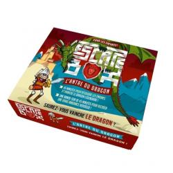 Escape box, L'antre du dragon - Coffret avec 1 livret de 32 pages, 40 cartes, 1 bande-son et 1 poster