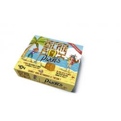 Escape box pirates - Contient : 1 livret, 40 cartes, 1 bande-son de 45 minutes, 1 poster