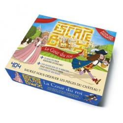 Escape box La cour du roi - Contient : 1 livret, 40 cartes, 1 bande-son de 45 minutes, 1 poster