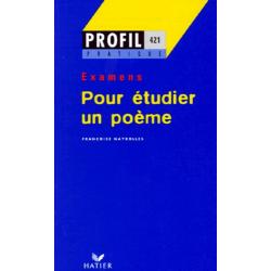 POUR ETUDIER UN POEME. Examens - Poche