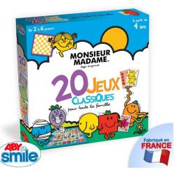 Monsieur Madame Le jeu de plateau - 20 Jeux classiques