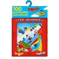 Les avions - 100 gommettes autocollantes