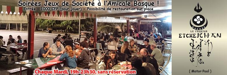 Venez jouer chaque Mardi soir à l'Amicale Basque!